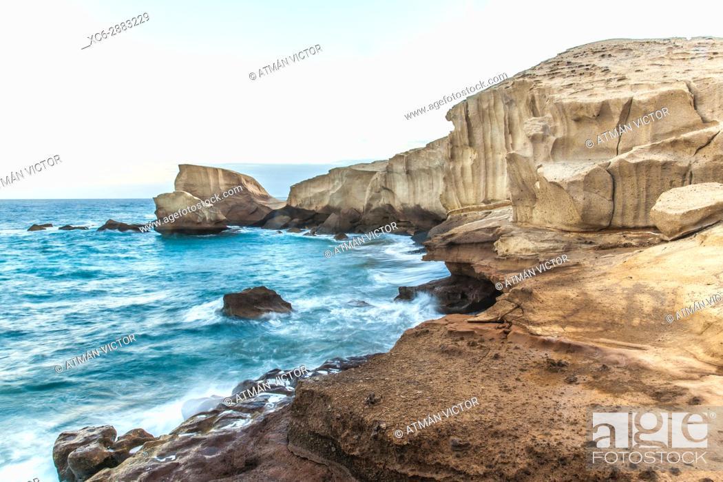 Stock Photo: Tajao seascape in Tenerife island. Spain.