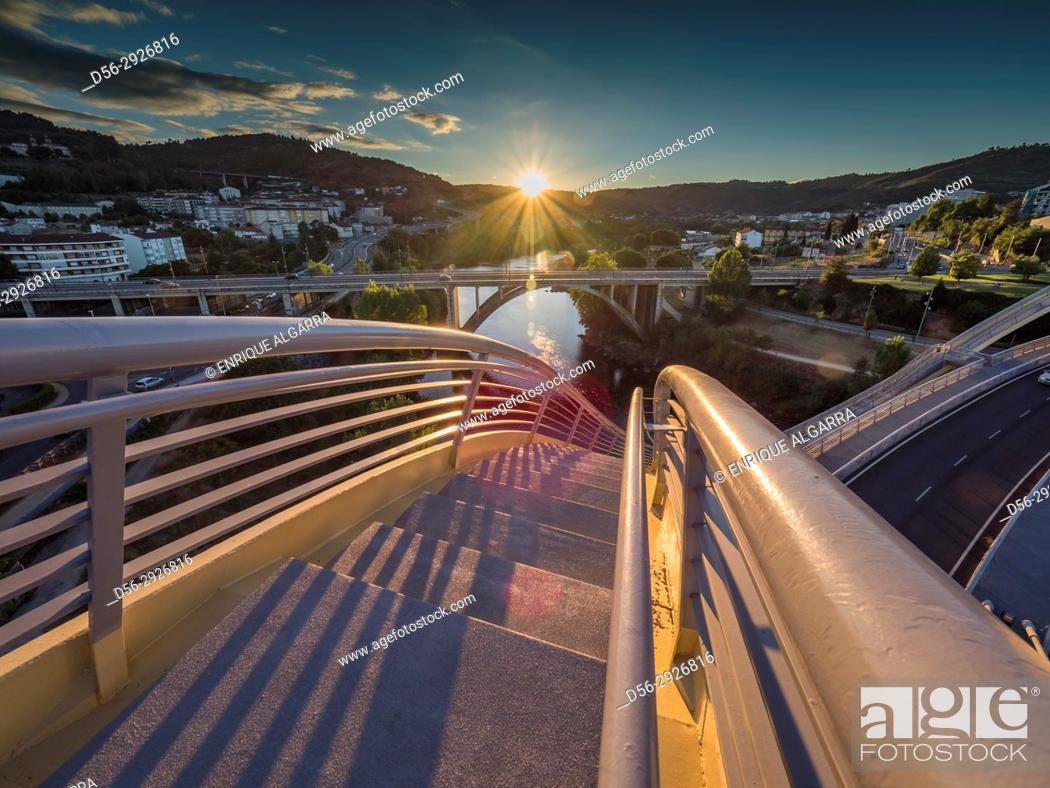 Stock Photo: Millenium bridge, Ourense, Galicia, Spain.