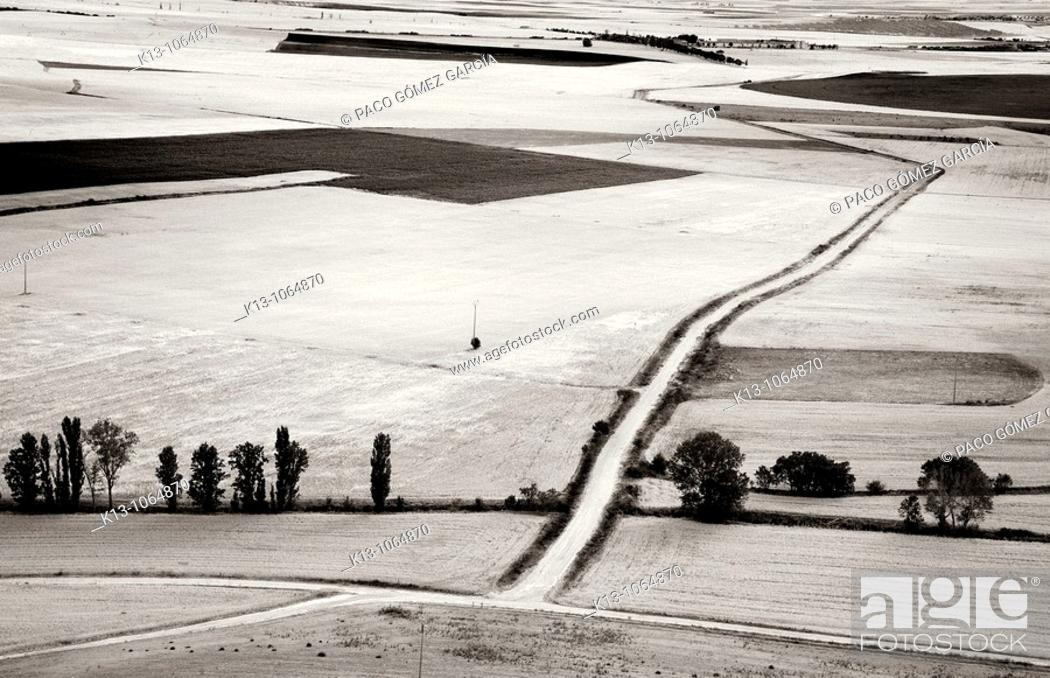Stock Photo: Country landscape, Urueña, Valladolid province, Castilla-Leon, Spain.