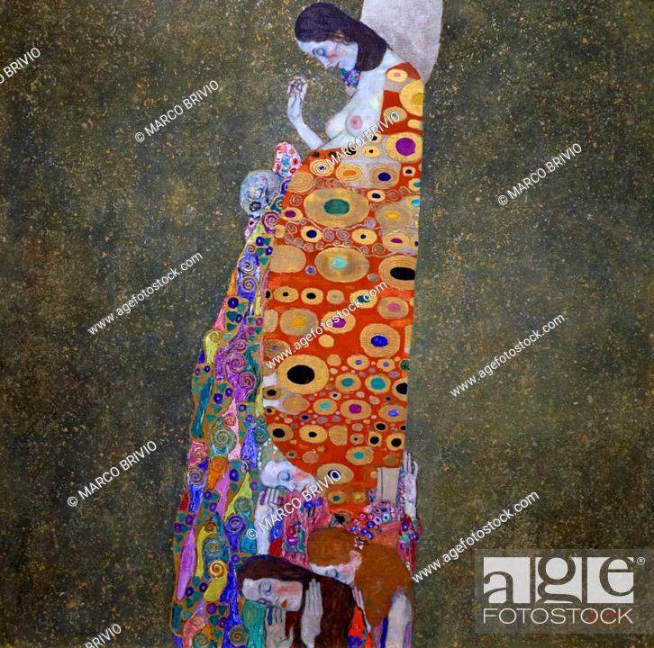 Stock Photo: Gustav Klimt - Hope II, Museum of Modern Art, New York, USA.