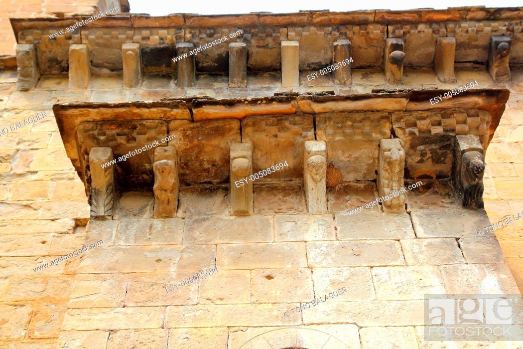 Stock Photo: Santa Maria Romanesque Church santa Cruz Seros.