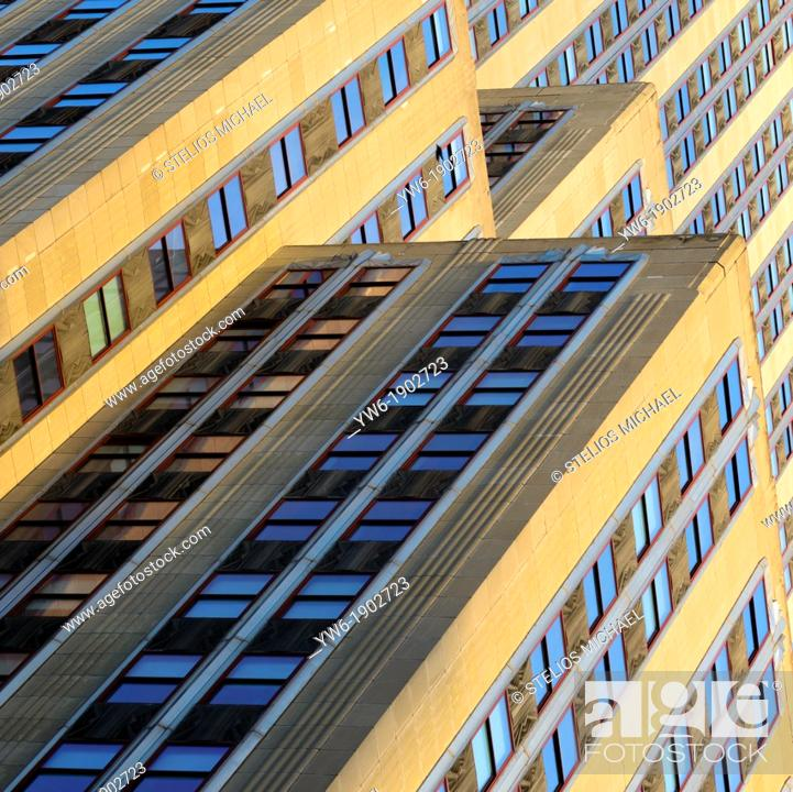 Stock Photo: Empire State Building Abstract, New York City, USA.