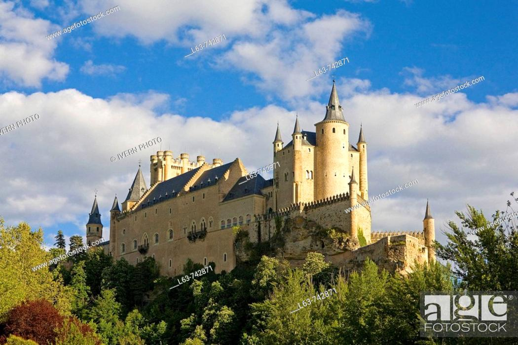 Stock Photo: Alcazar fortress, Segovia. Castilla-Leon, Spain.