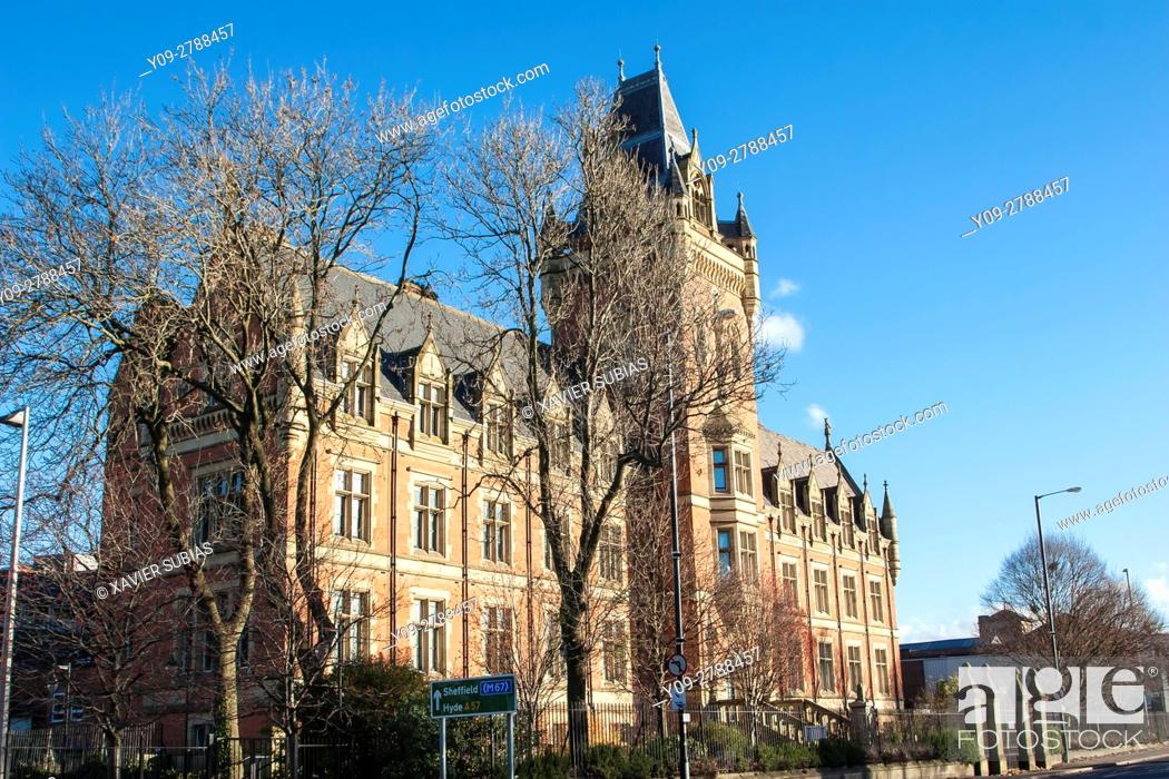 Stock Photo: The Manchester College, University Manchester Goldstein Research, Ardwick, Manchester, England, United Kingdom.