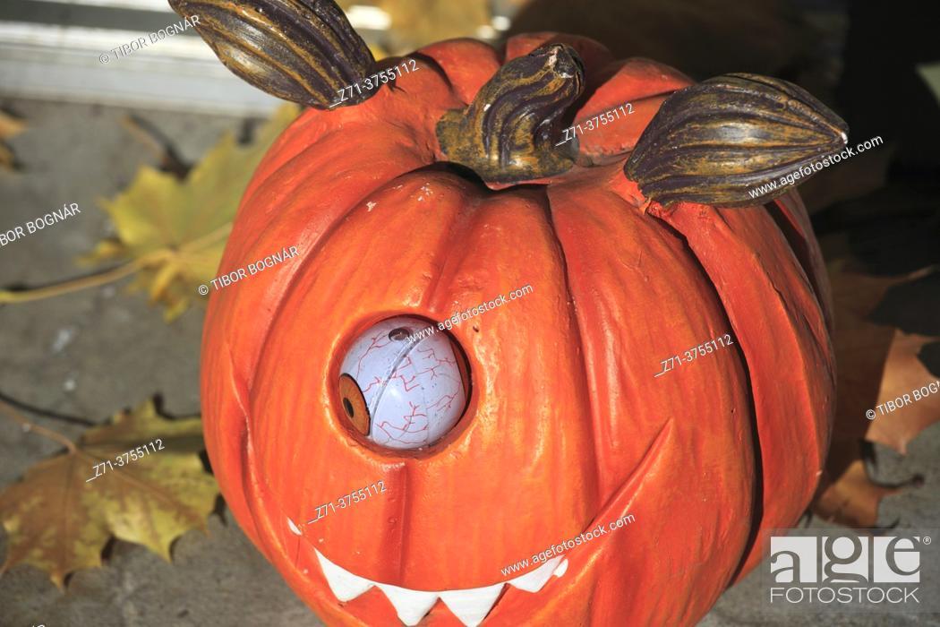 Stock Photo: Halloween, decoration, pumpkin, .