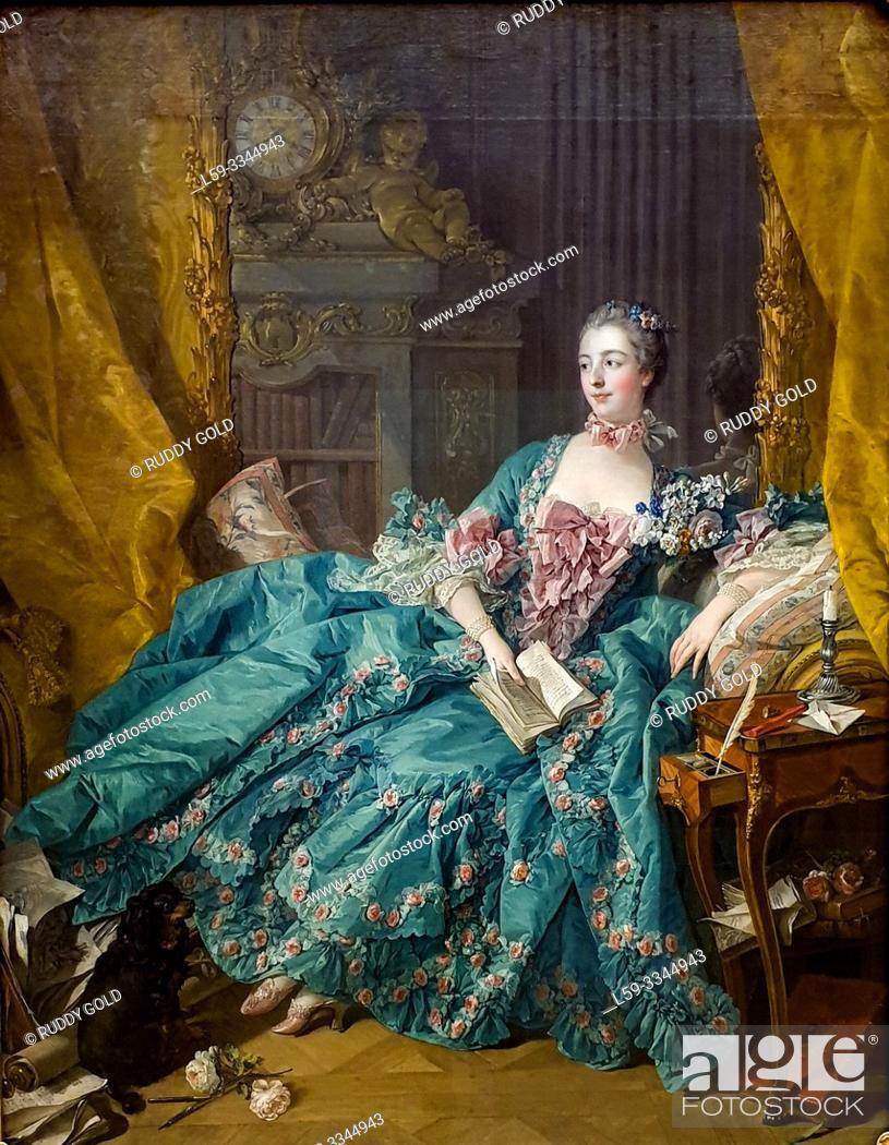 Stock Photo: 'Madame de Pompadour', 1756, François Boucher (1703-1770).