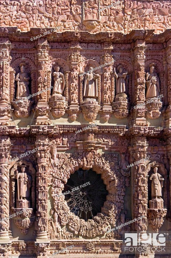 mexico central america america zacatecas city cathedral