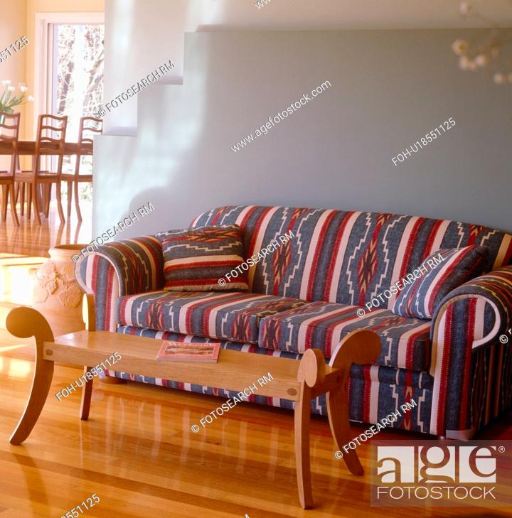 Awe Inspiring Brown Patterned Sofa And Wooden Table In Pastel Green Modern Pdpeps Interior Chair Design Pdpepsorg