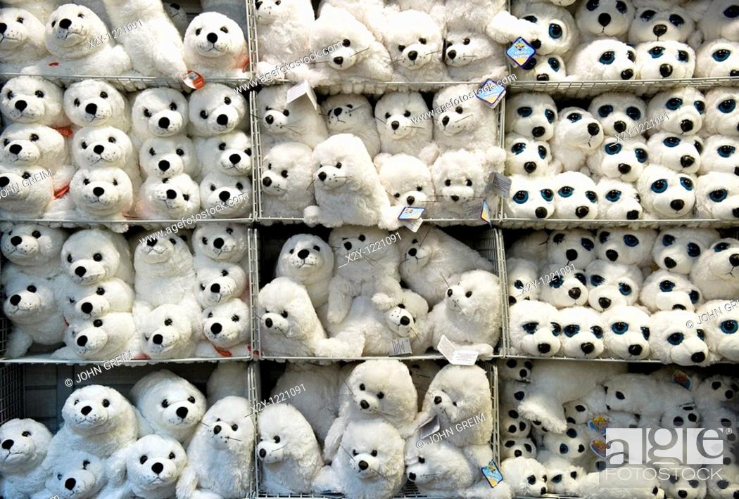 Stock Photo: Stuffed animals in a store.