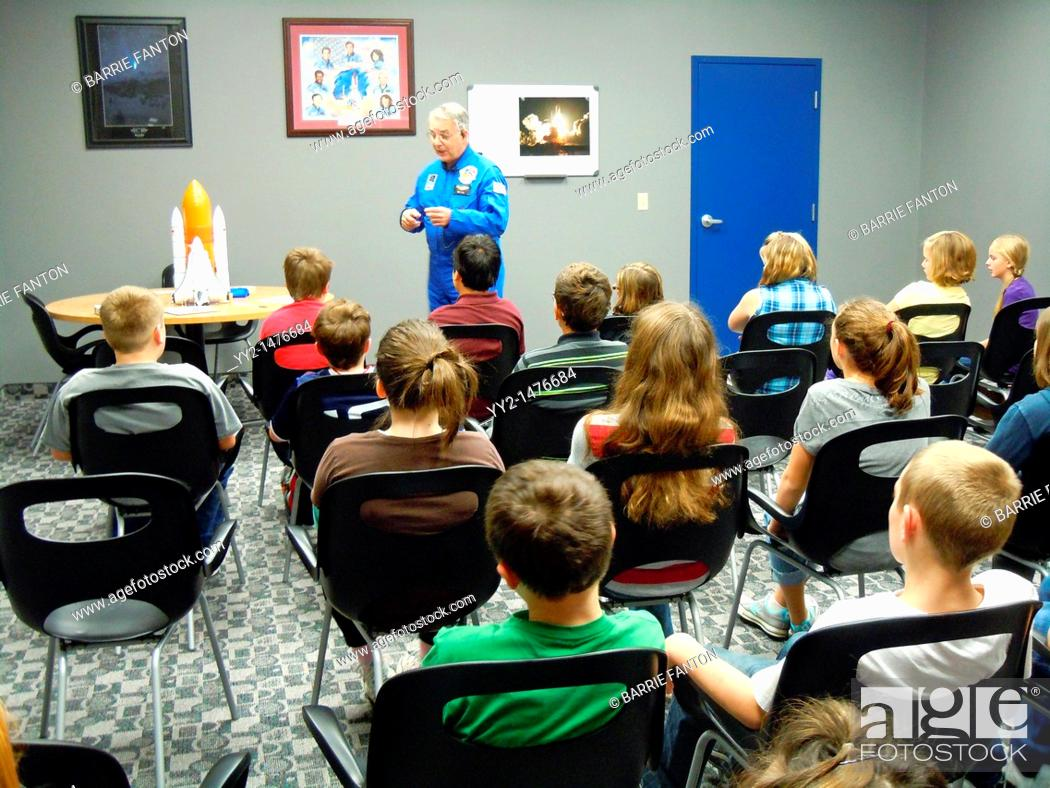 Imagen: Science class, Challenger Center, Olean, New York, USA.