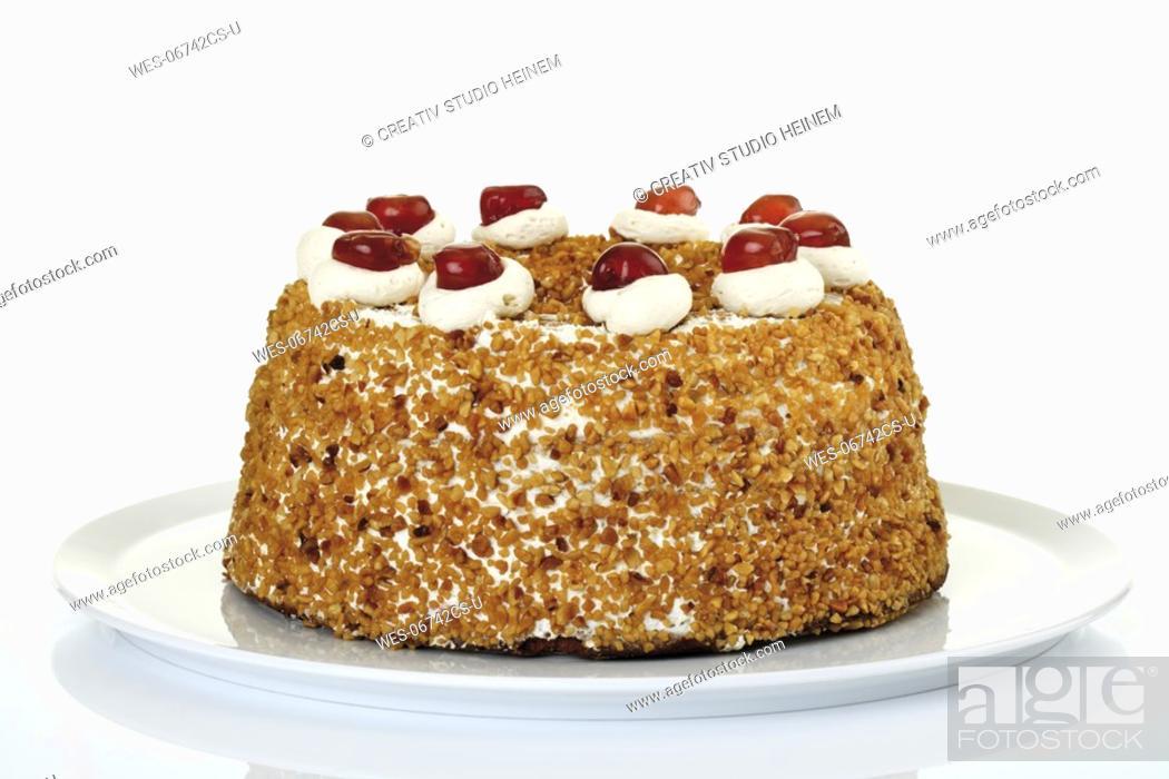Stock Photo: Frankfurt Crown Cake, close-up.