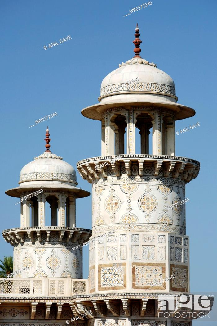 Stock Photo: Architecture heritage Edmat doulas tomb , Agra , Uttar Pradesh , India.