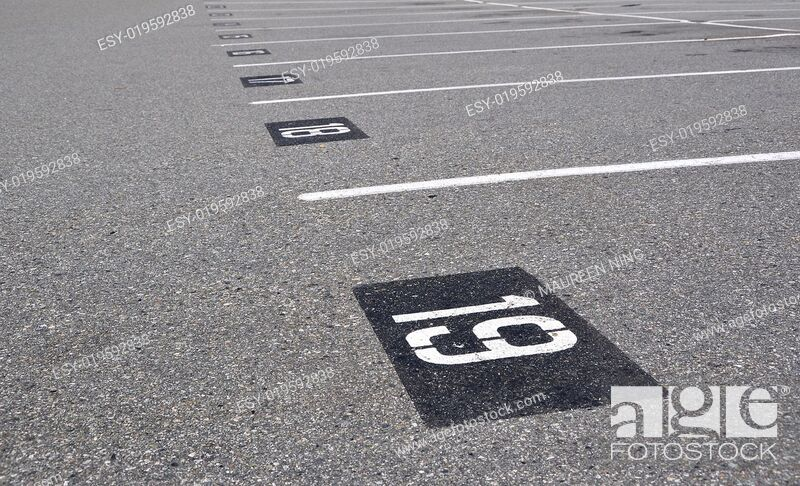 Stock Photo: Empty parking lot.
