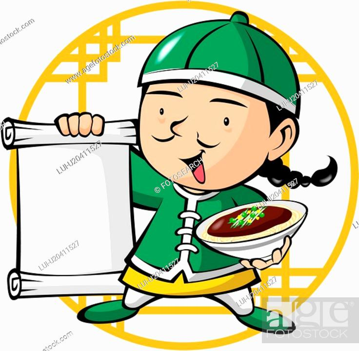 Stock Photo: noodle, chinese, holding, food, chinese restaurant, business.