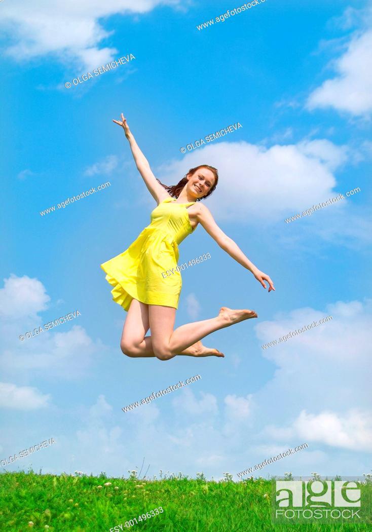 Stock Photo: Jump.