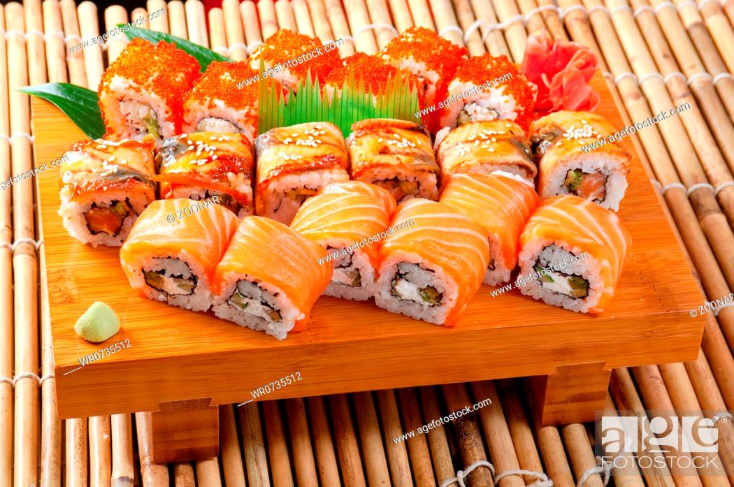 Stock Photo: Japanese sushi.