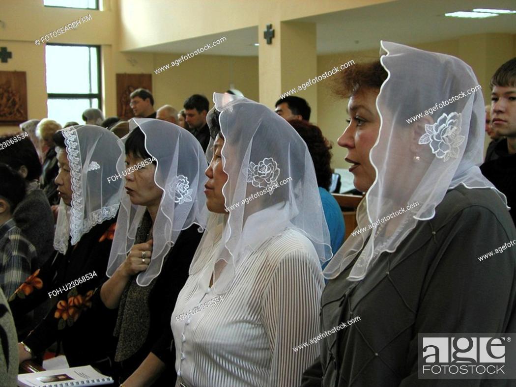 Stock Photo: mass, people, sunday, russia, person, love.