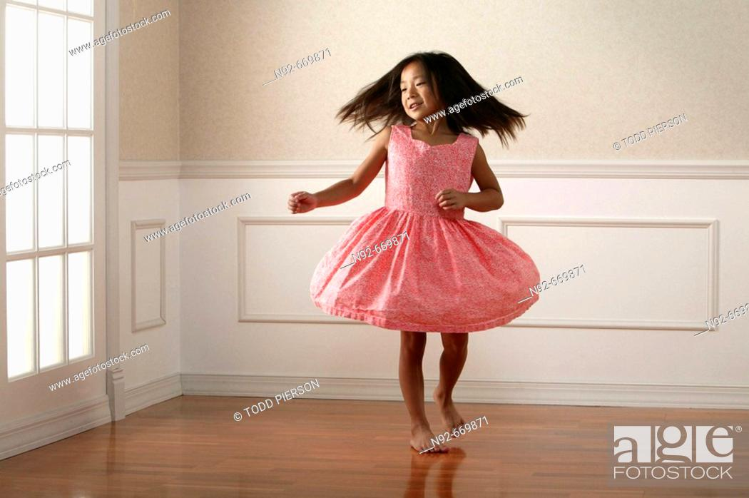 Stock Photo: Girl dancing.