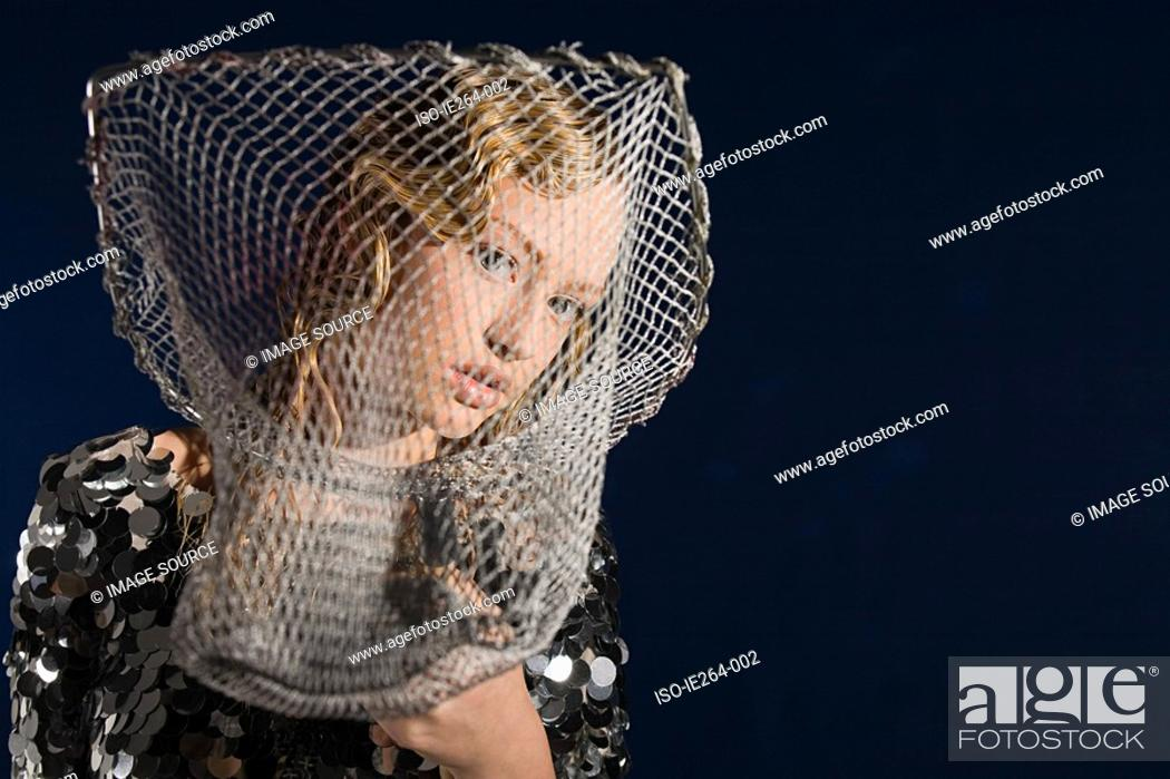 Stock Photo: Young woman as pisces.