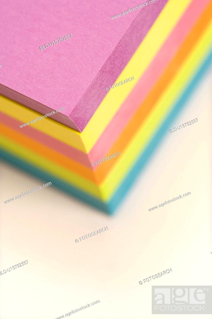 Stock Photo: Stack of colorful sticky notes.