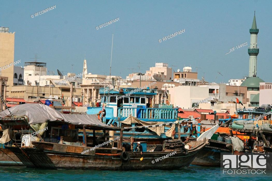 Stock Photo: Dubai - boats.