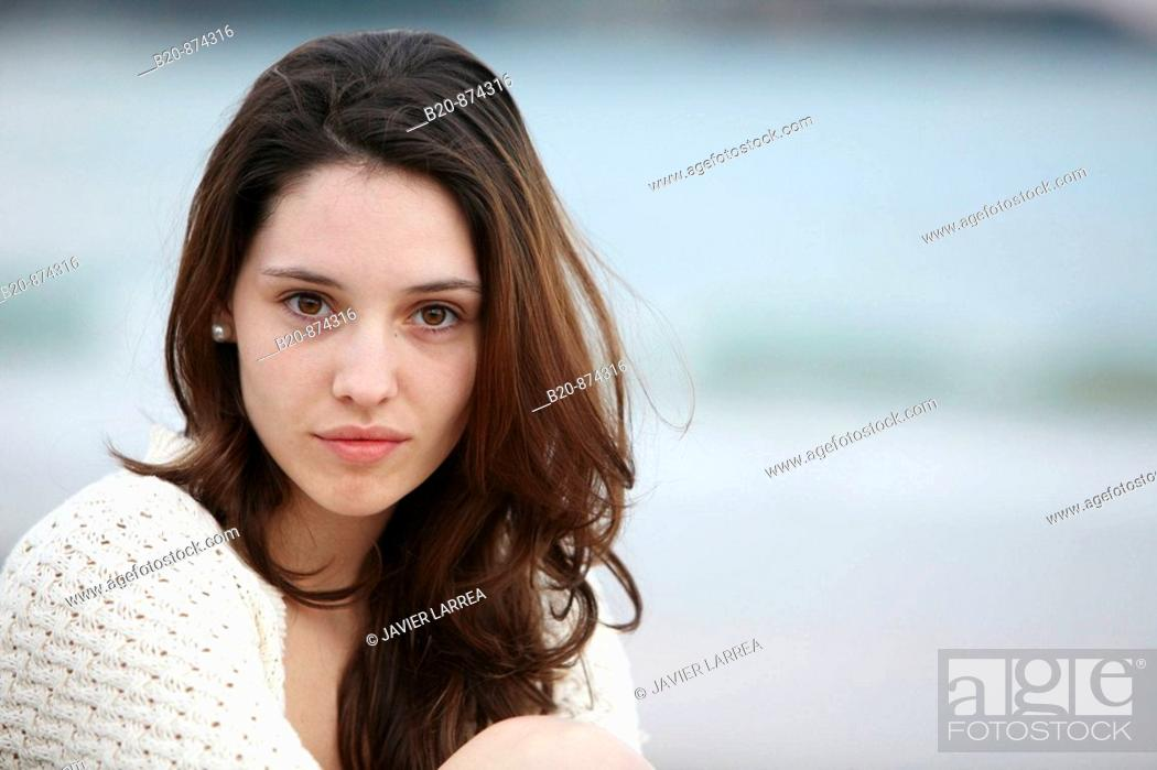 Stock Photo: 20 year old girl.
