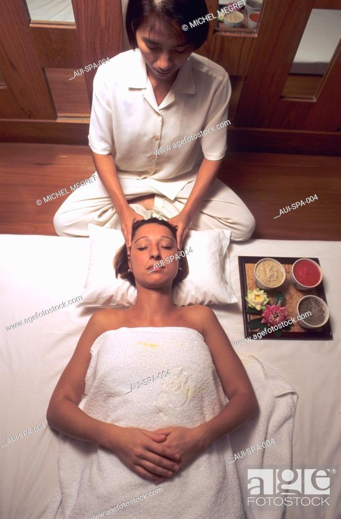 Stock Photo: Spa - Massage - Face massage.