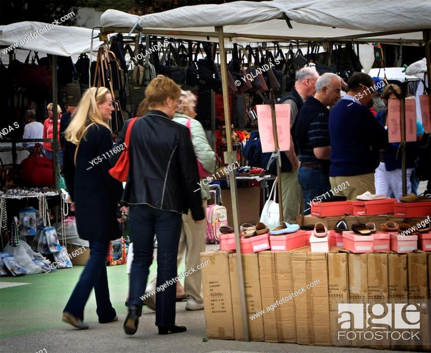 Stock Photo: Street market, La Cala,  Mijas, Malaga province, Andalusia, Spain.