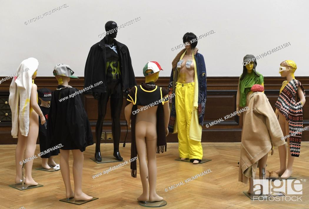 Stock Photo: A works by Isa Genzken are presented within the exhibition A Cool Breeeze exposing new possibilities of spatial depiction of a figure in contemporary art in.