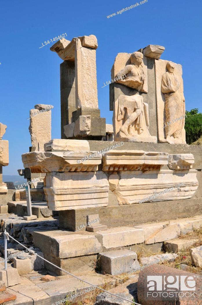 Stock Photo: Ancient Ephesus Turkey Kusadasi Aegean Mediterranean.