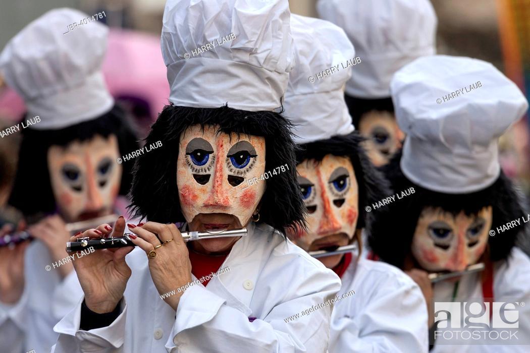 Stock Photo: Basler Fasnacht, Carnival of Basel, Basel, Switzerland.