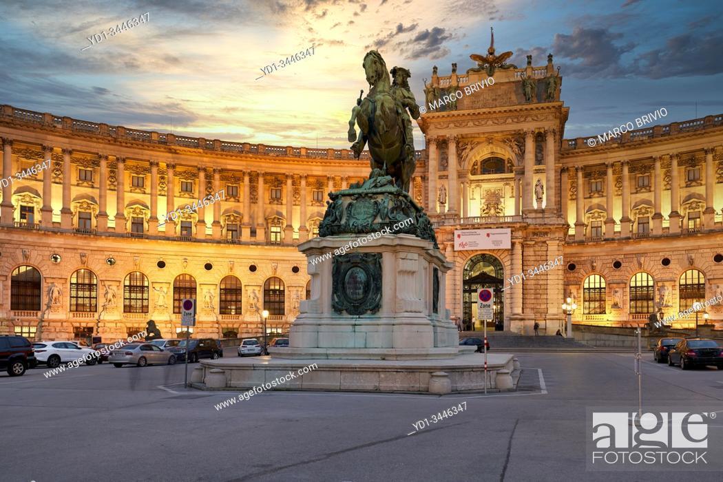 Stock Photo: Neue Burg Museum complex at Hofburg Imperial Palace. Vienna Austria.