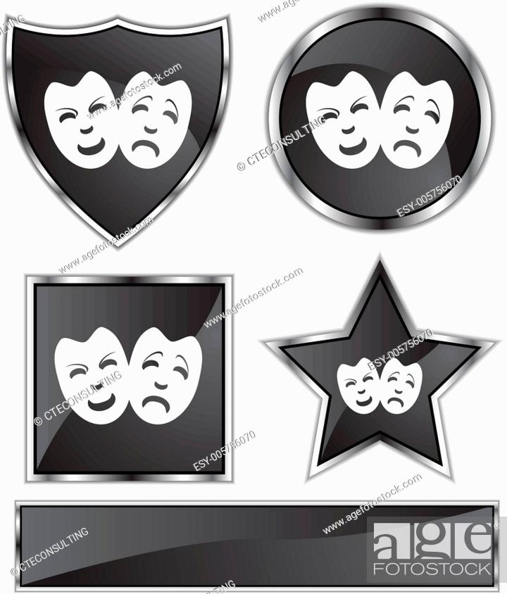 Vecteur de stock: Comedy Masks.