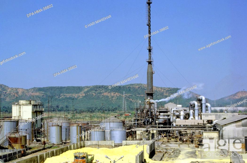 sulphuric acid plant , india, Stock Photo, Picture And Rights