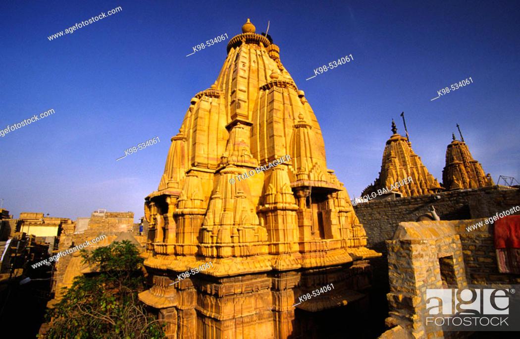Stock Photo: Templos Jainistas. Jaisalmer. Rajastan. Desierto del Thar. India.