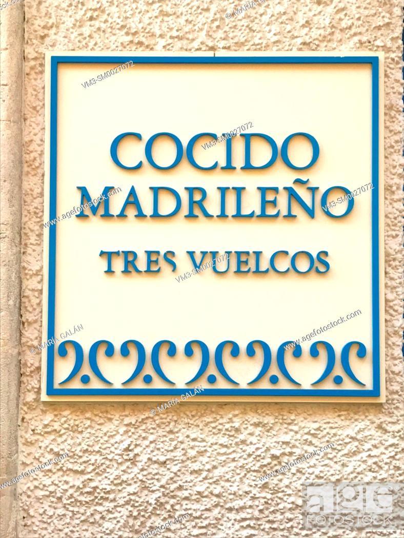 Imagen: Cocido madrileño. Madrid, Spain.