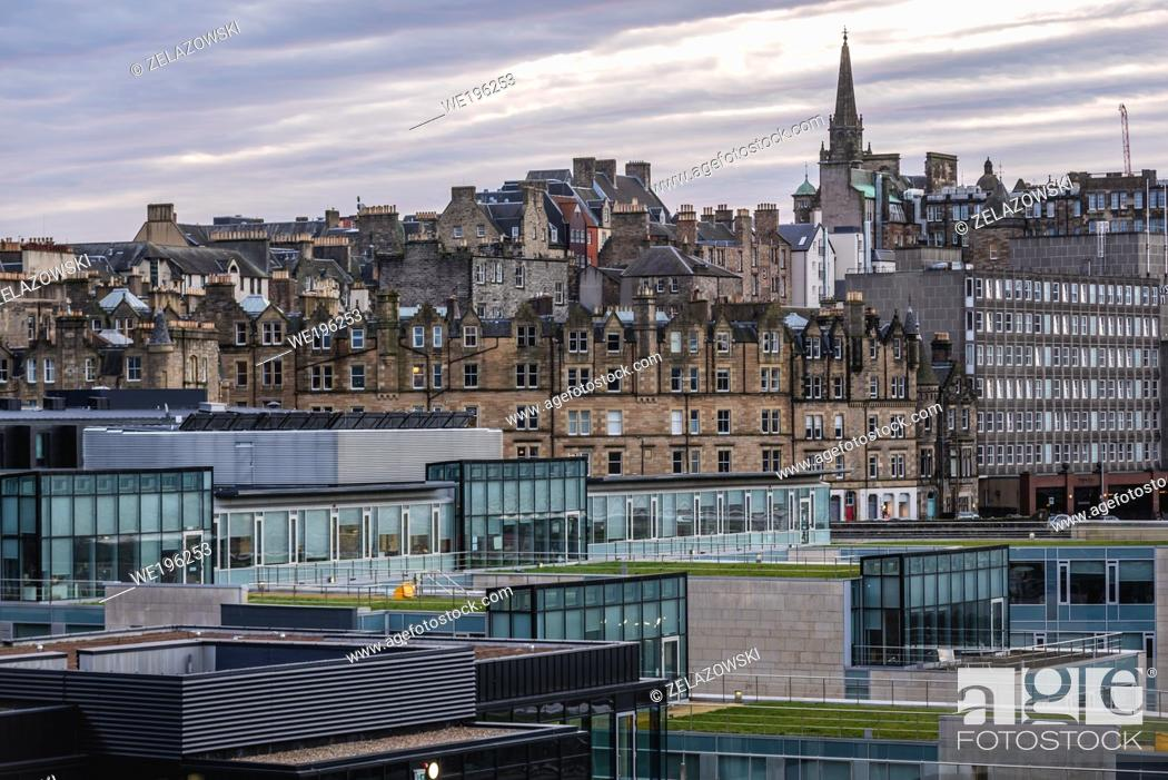Stock Photo: Modern and old architecture in Edinburgh, the capital of Scotland, part of United Kingdom.