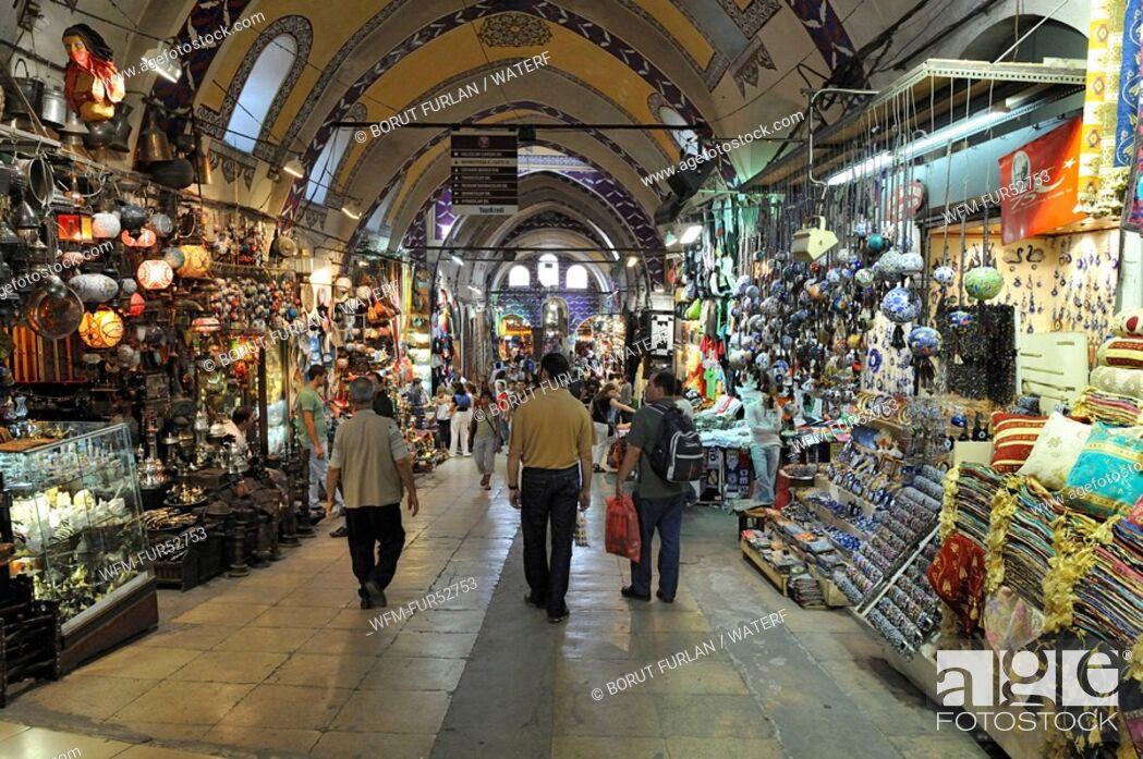 Stock Photo: Grand Bazaar Kapali Carsi, Islanbul, Turkey.