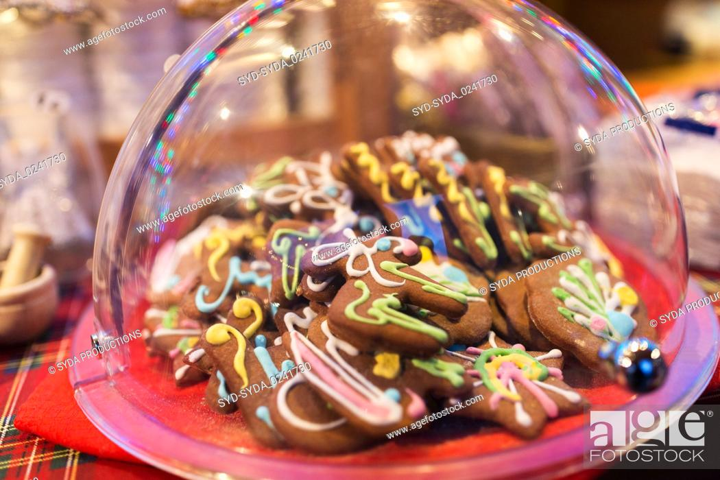 Stock Photo: glazed christmas gingerbread.