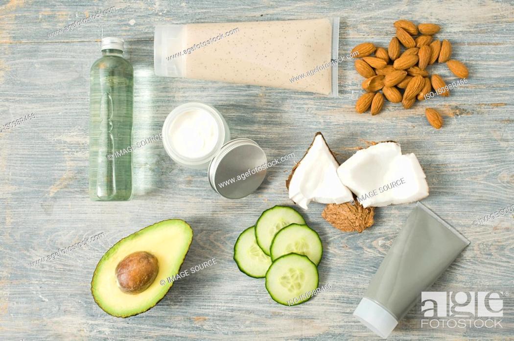Stock Photo: Natural cosmetics.