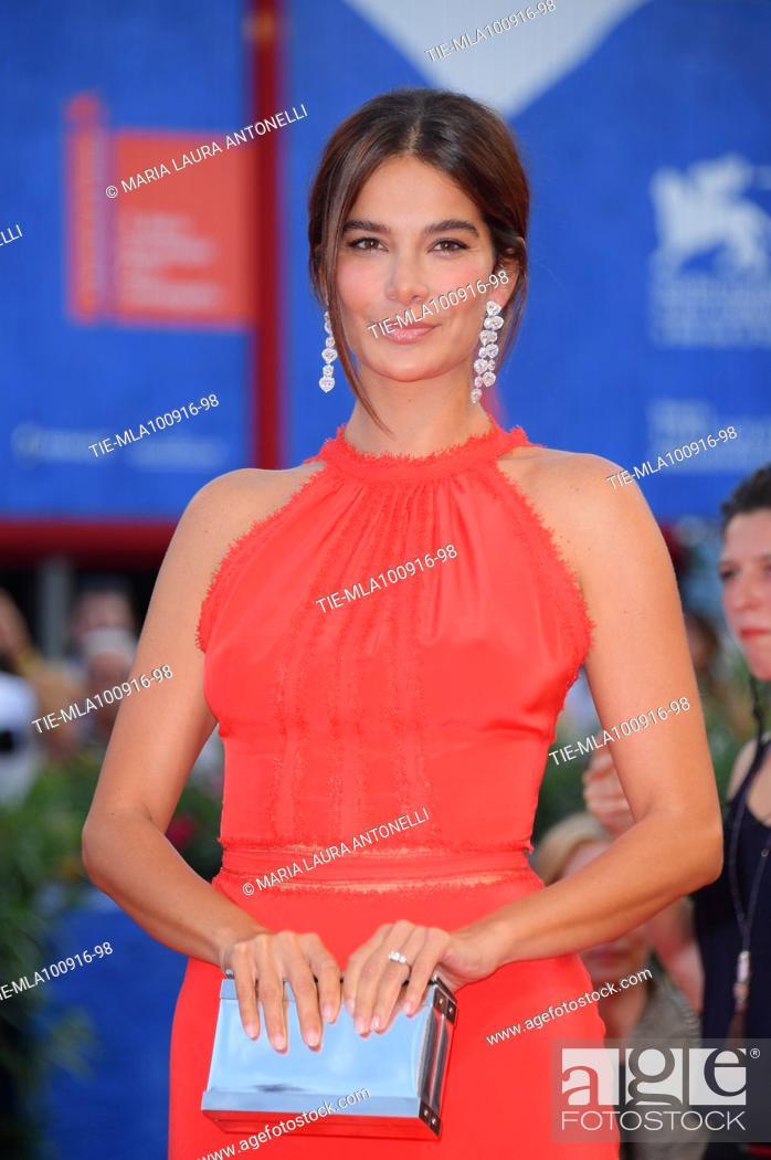 Stock Photo: Ilaria Spada during the red carpet of the awards ceremony. 73 Venice Film Festival. Venice. Italy 10-09-2016.