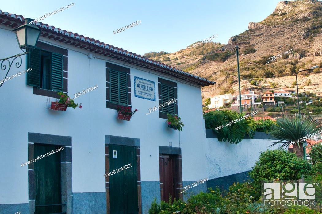 Stock Photo: Texeira house in Machico, Madeira, Portugal.