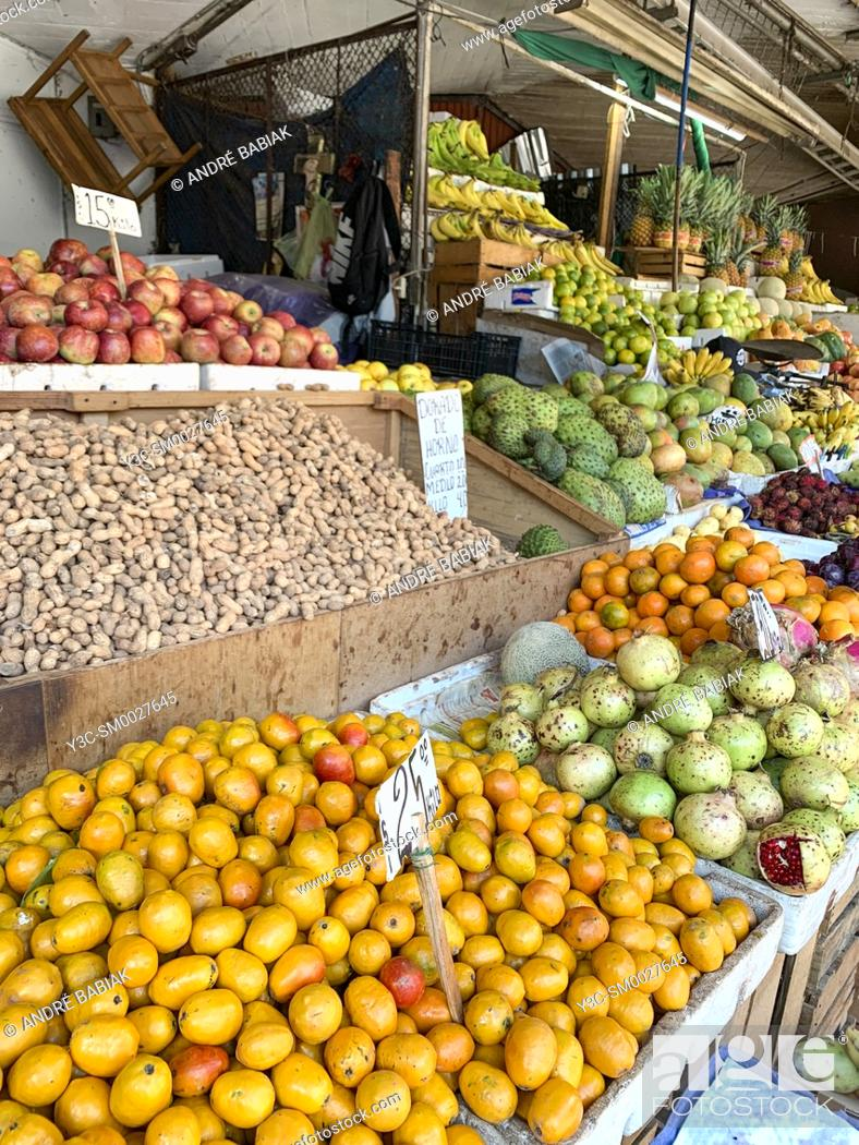 Stock Photo: Produce section in Mercado Libertad - San Juan de Dios, a huge indoor market with close to 3000 vendor booths in the heart of Guadalajara, Jalisco, Mexico.