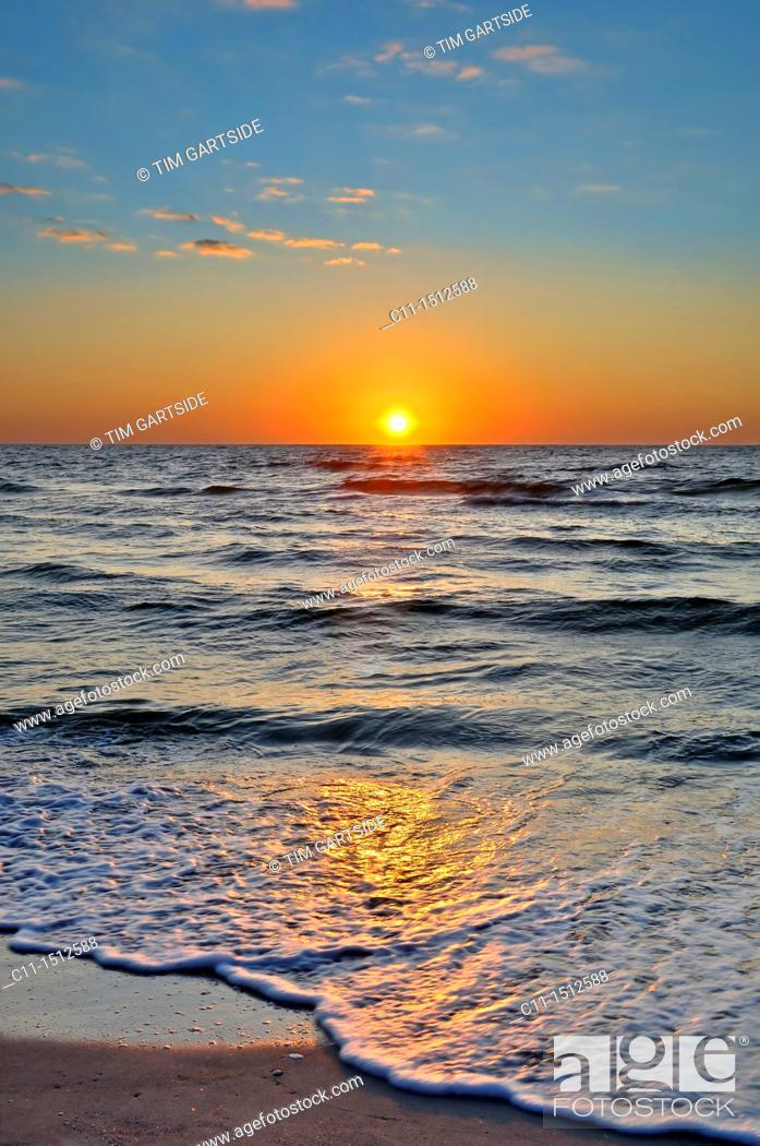 Stock Photo: sunset over sea,naples,florida,usa.