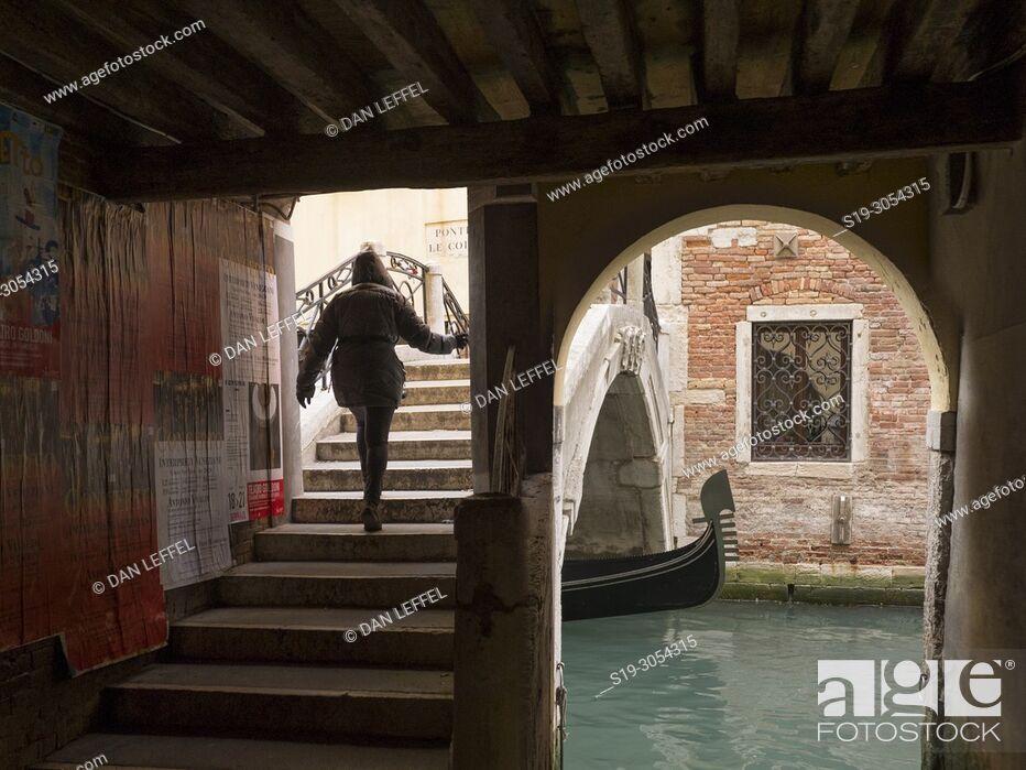 Stock Photo: Canal, Venice, Italy.