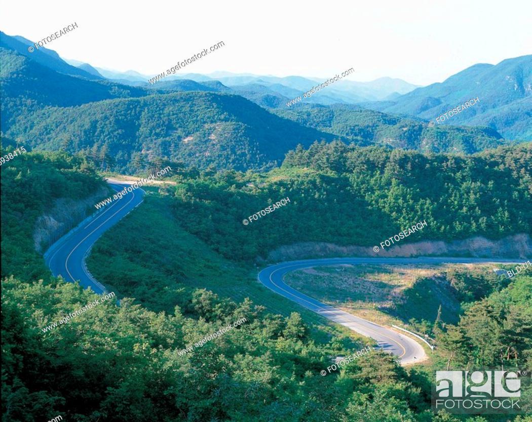 Stock Photo: path, mountain, scenic, landscape, natural, scenery.