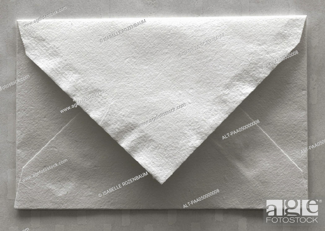 Stock Photo: Envelope, rear view, close-up.
