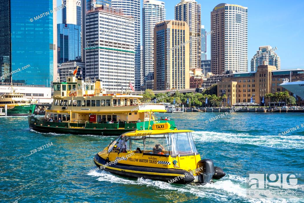 Stock Photo: Circular Quay and harbour in Sydney city centre, New South Wales, Australia.
