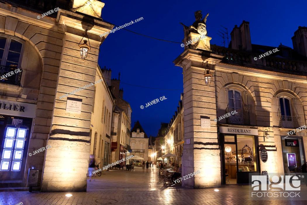 Stock Photo: Liberation square, Dijon, Departement Cote-d'Or, Bourgogne, France.