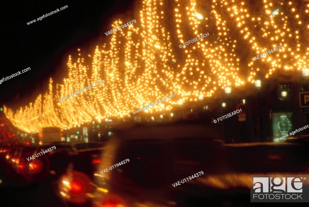 Stock Photo: Christmas Illuminations On Champs-Elysees.